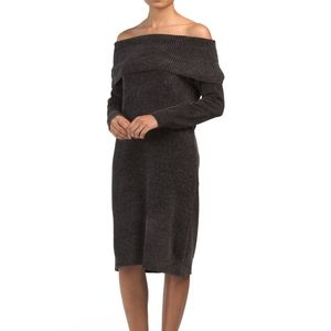NWT Nine West Charcoal Chenille Sweater Dress